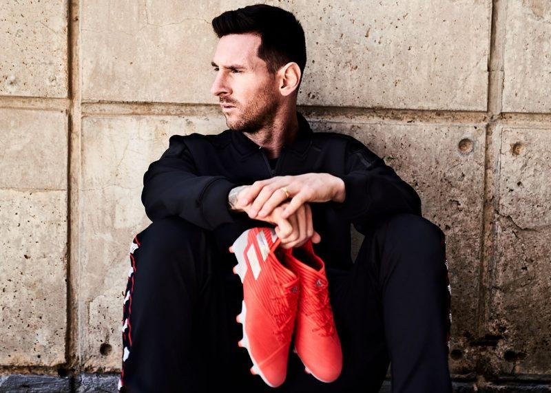 "Lionel Messi con los nuevos botines Adidas NEMEZIZ 19 ""302 Redirect"" Pack"