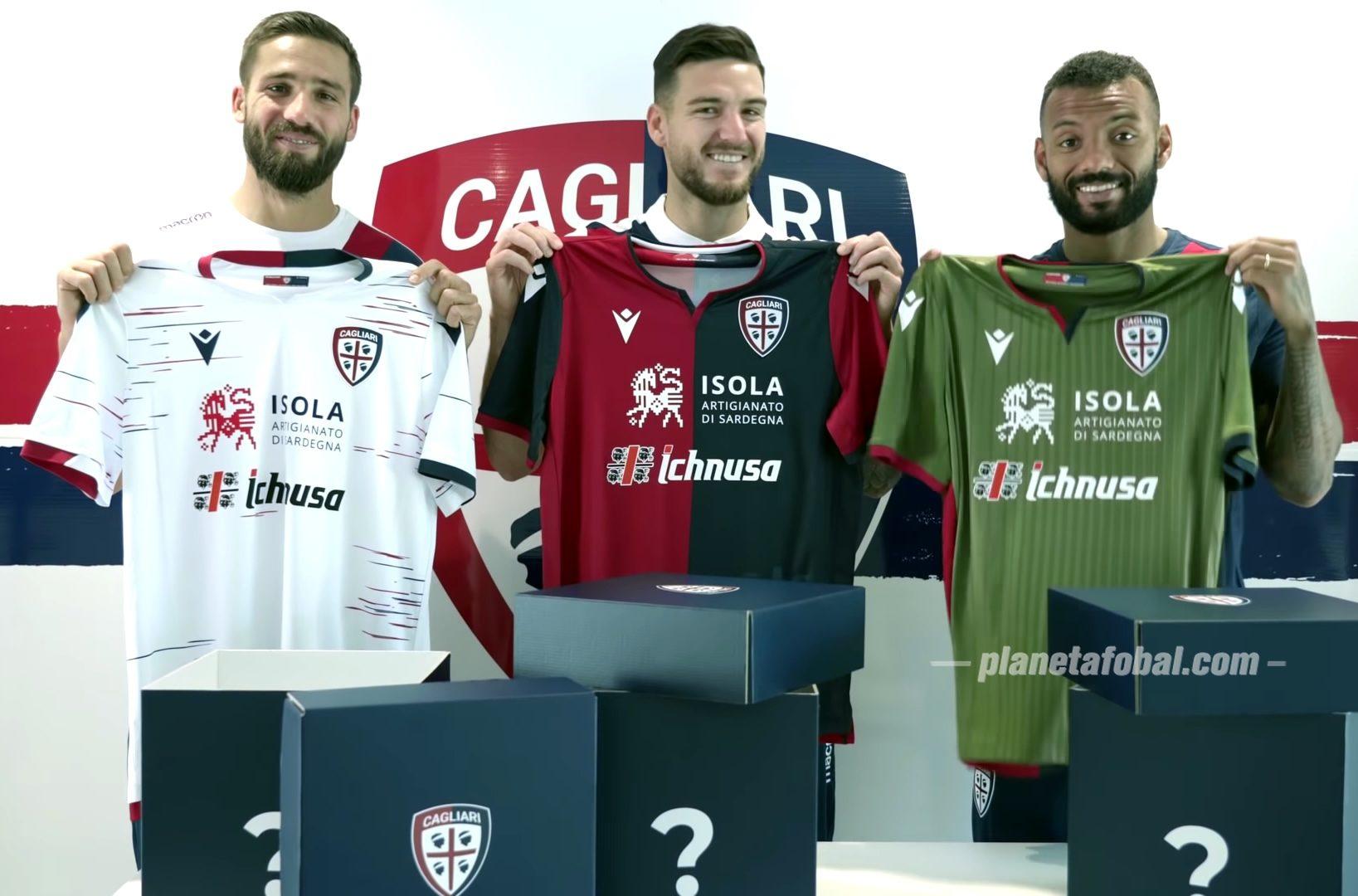 Camisetas Macron del Cagliari 2019/20 | Imagen Web Oficial