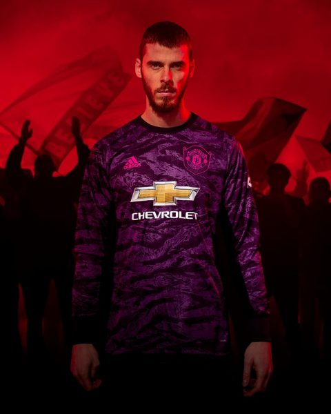 David De Gea con la nueva camiseta de arqueros del Manchester United 2019/2020 | Imagen Adidas