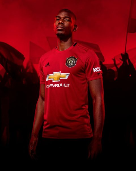 Paul Pogba con la nueva camiseta titular del Manchester United 2019/2020 | Imagen Adidas