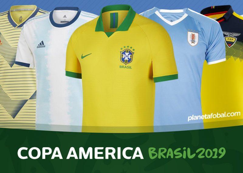 Camisetas de la Copa América Brasil 2019