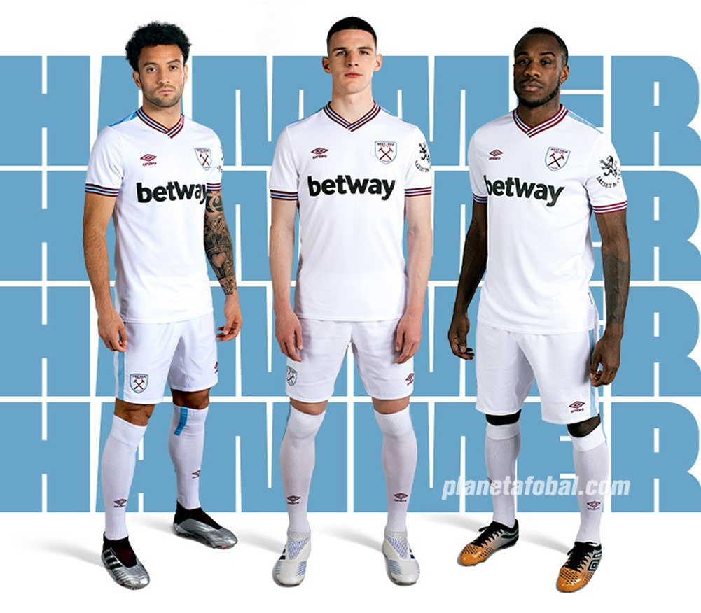Camiseta suplente Umbro del West Ham 2019/20 | Imagen Web Oficial