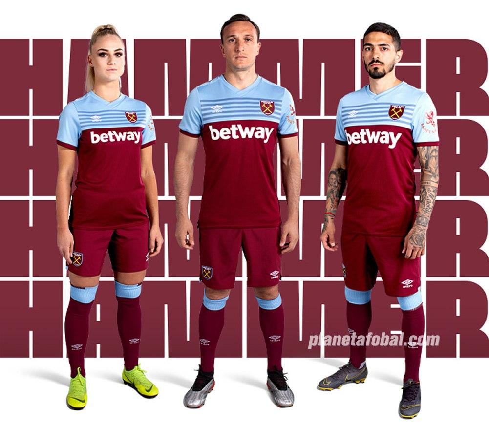 Camiseta titular Umbro del West Ham 2019/20 | Imagen Web Oficial