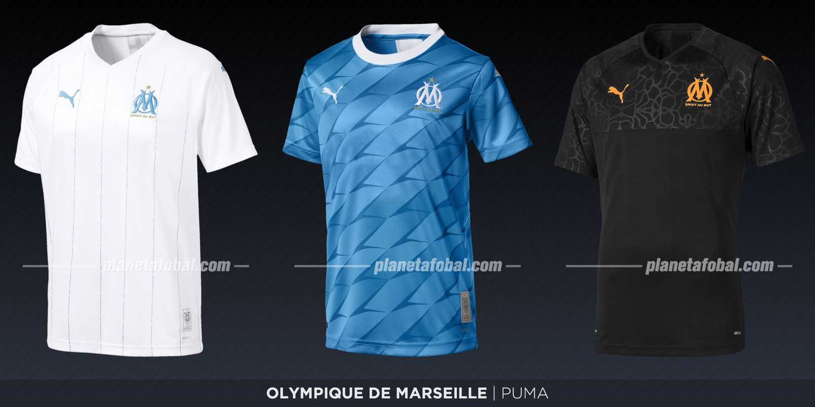 Olympique de Marsella (Puma) | Camisetas de la Ligue 1 2019-2020