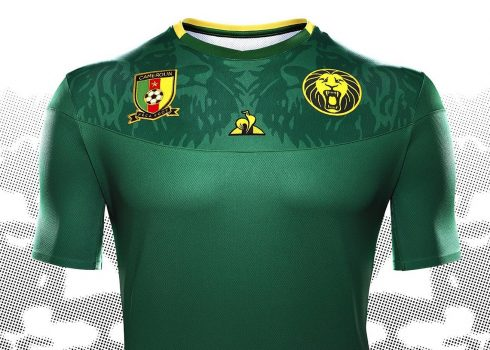 Camiseta titular de Camerún 2019   Imagen Le Coq Sportif