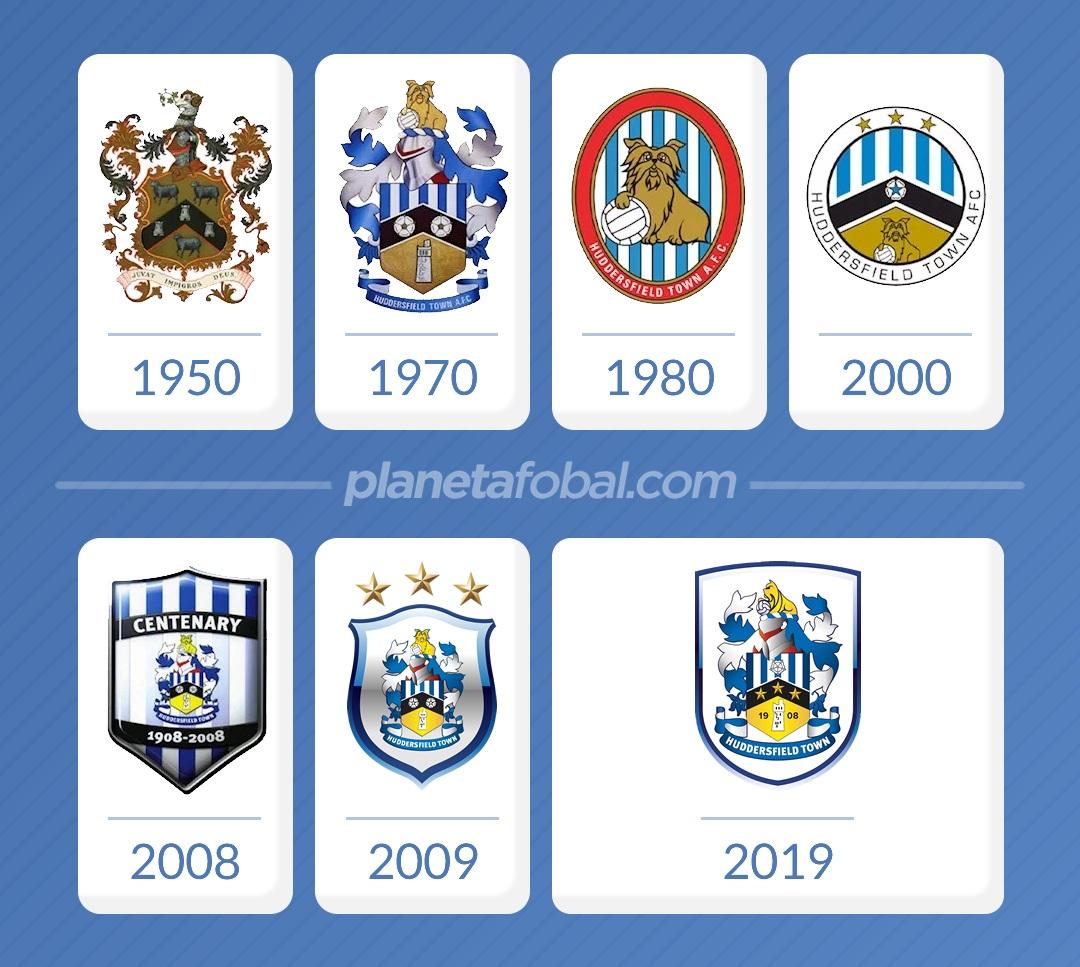 La evolución del escudo del Huddersfield Town desde 1950 a 2019 | Imágenes Web Oficial