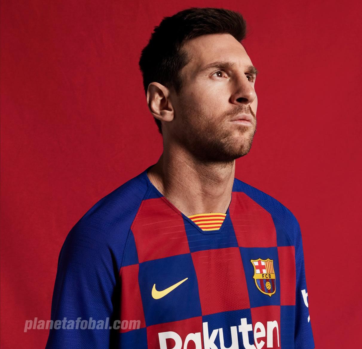 Lionel Messi con la nueva camiseta titular 2019-2020 del Barcelona | Imagen Nike