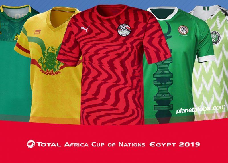 Camisetas de la Copa Africana de Naciones 2019   @planetafobal