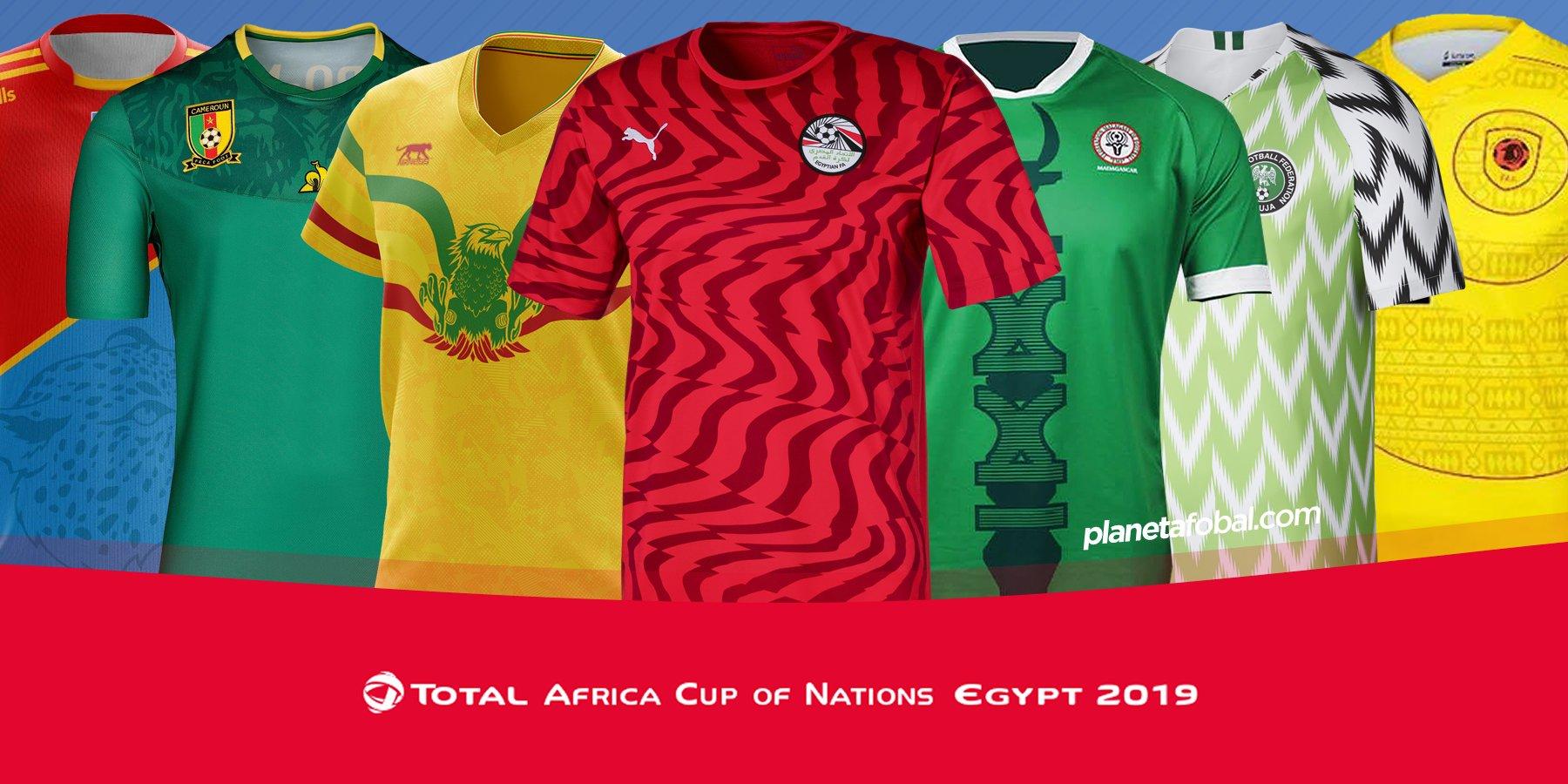 Representar Rítmico Halar  Camisetas de la Copa Africana de Naciones 2019