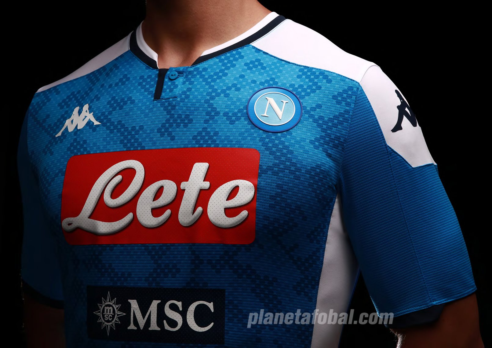 Camiseta titular Kappa del Napoli 2019/2020 | Imagen Web Oficial