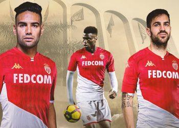Camiseta titular Kappa del AS Monaco 2019/2020   Imagen Web Oficial