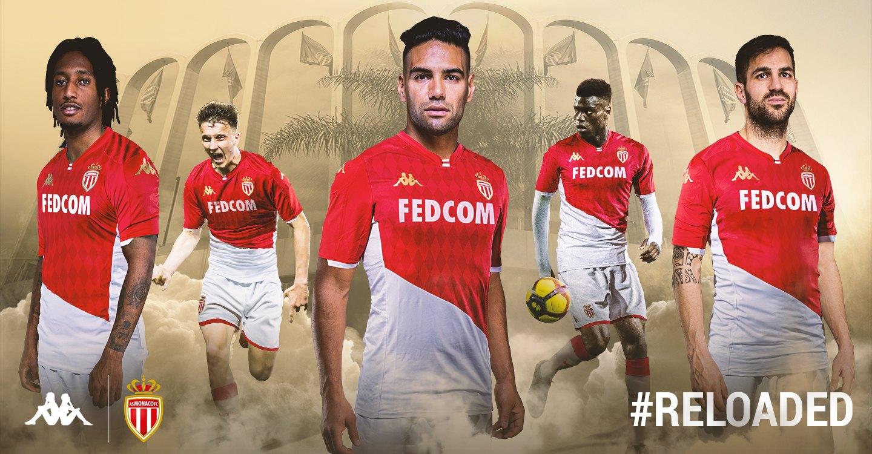 Camiseta titular Kappa del AS Monaco 2019/2020 | Imagen Web Oficial