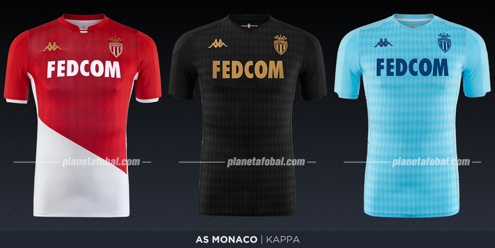 AS Monaco (Kappa) | Camisetas de la Ligue 1 2019-2020