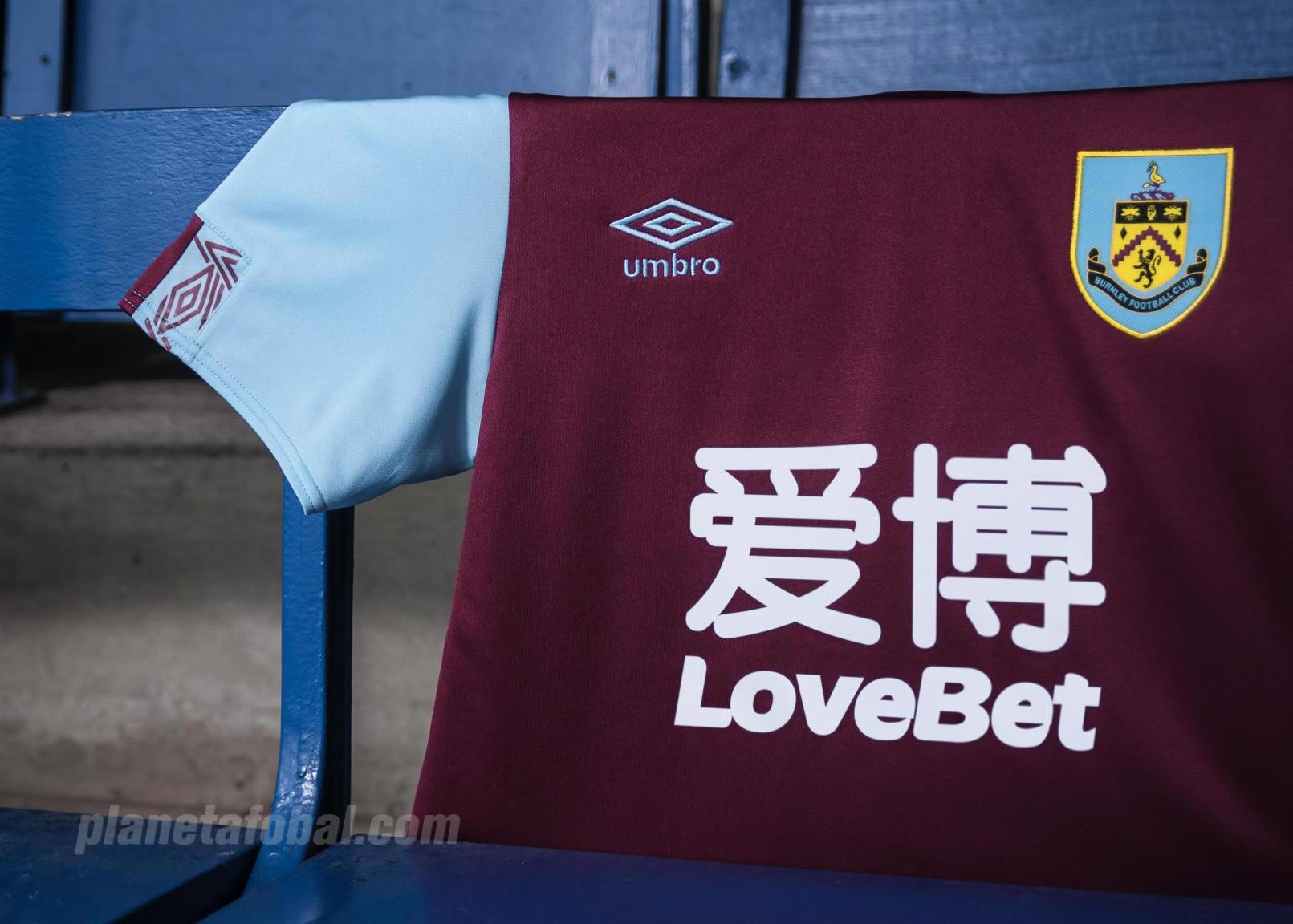 Camiseta Umbro del Burnley FC 2019/20 | Imagen Web Oficial