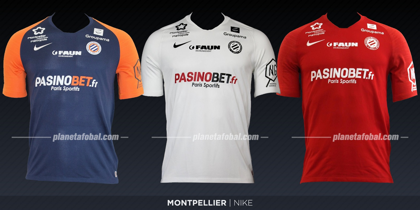 Montpellier (Nike) | Camisetas de la Ligue 1 2019-2020