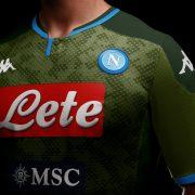 Camiseta suplente Kappa del Napoli 2019/2020 Imagen Web Oficial