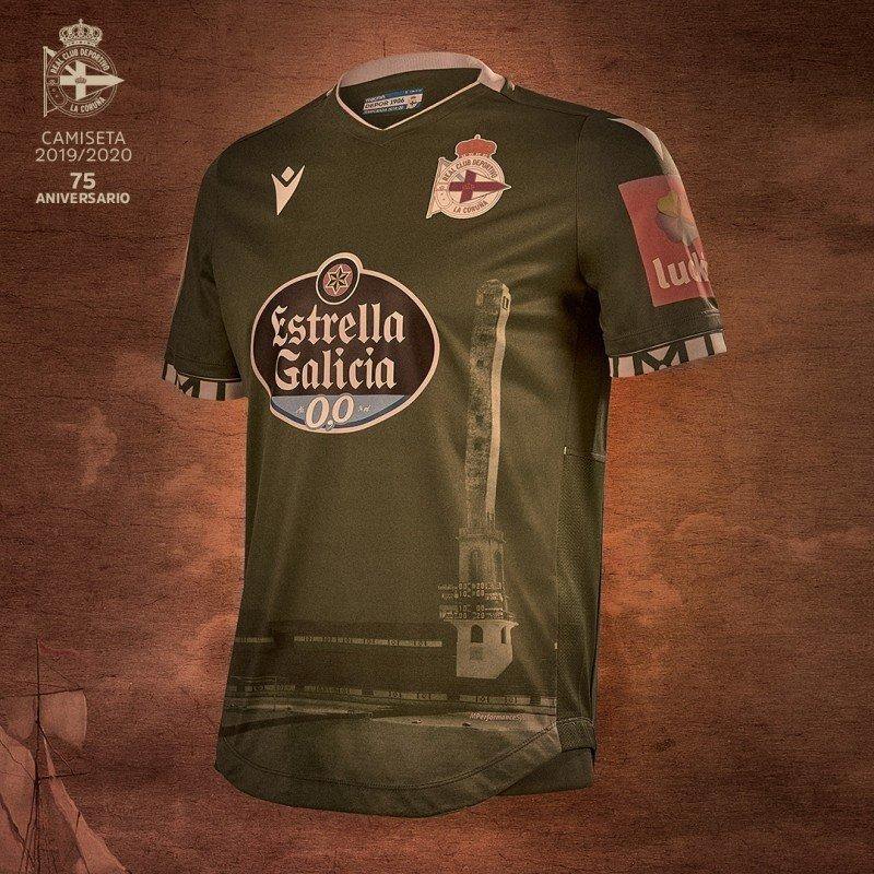 Camiseta suplente Macron del Deportivo La Coruña 2019/20 | Imagen Web Oficial