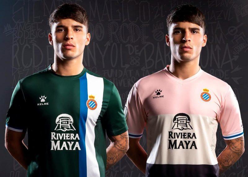 Camisetas alternativas Kelme del RCD Espanyol 2019/20   Imagen Twitter Oficial