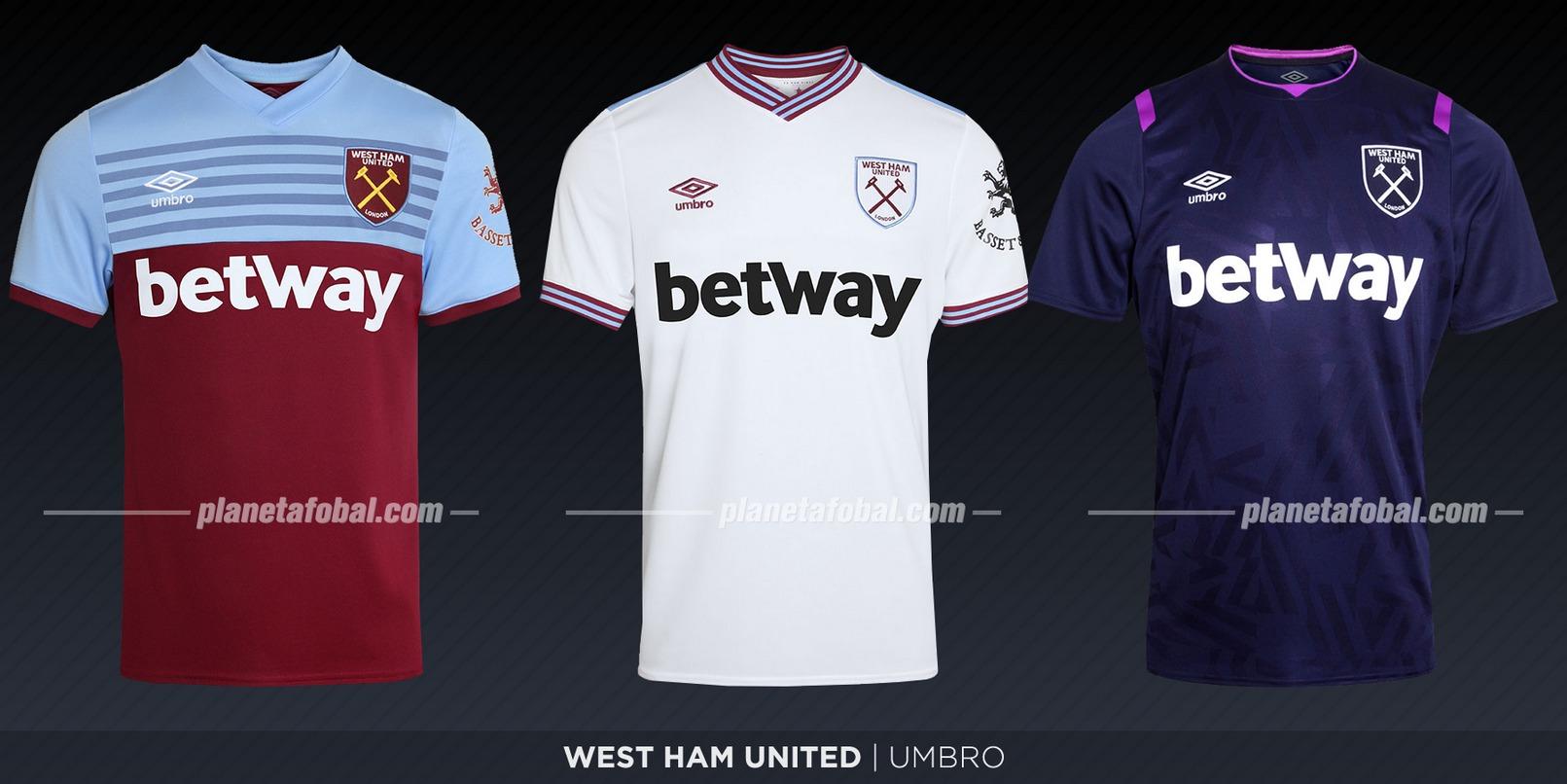 West Ham United (Umbro) | Camisetas de la Premier League 2019-2020
