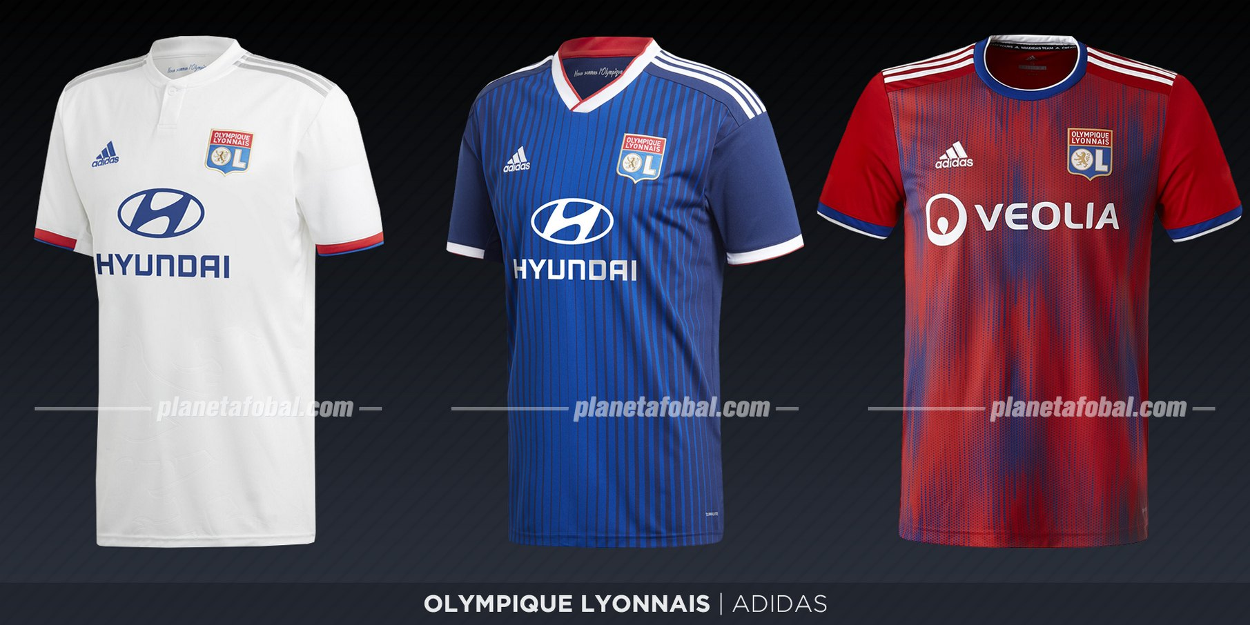 Olympique Lyon (Adidas) | Camisetas de la Ligue 1 2019-2020