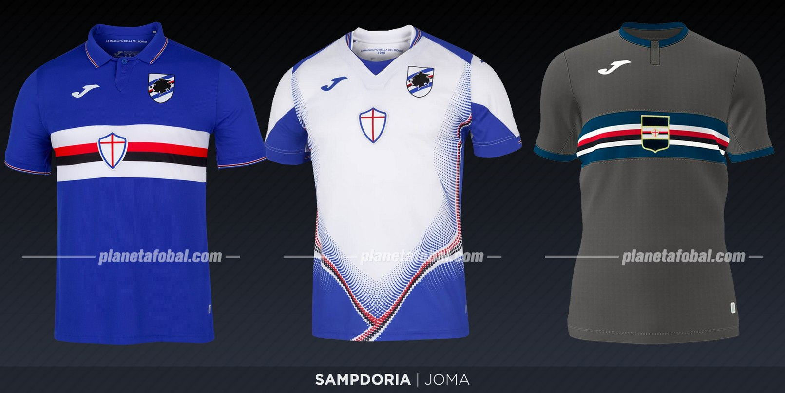 Sampdoria (Joma) | Camisetas de la Serie A 2019-2020