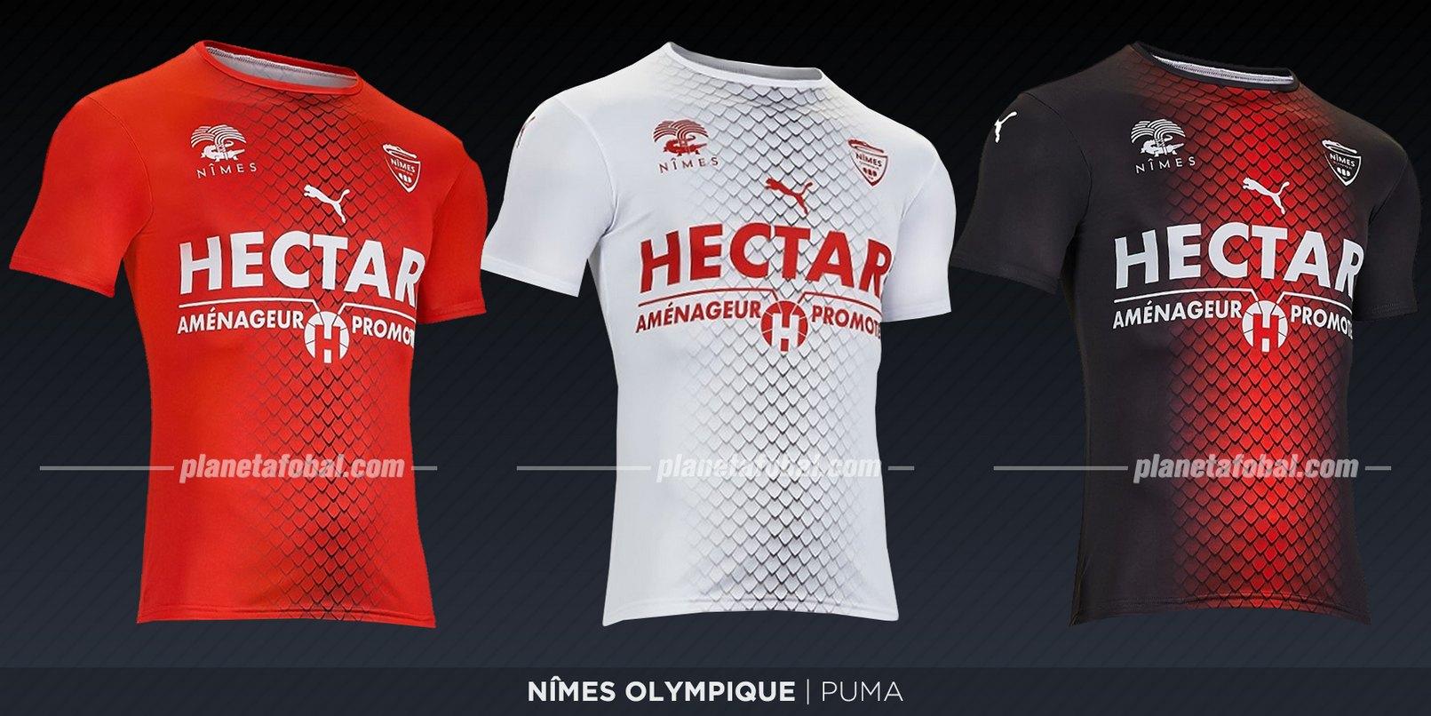 Nîmes Olympique (Puma) | Camisetas de la Ligue 1 2019-2020