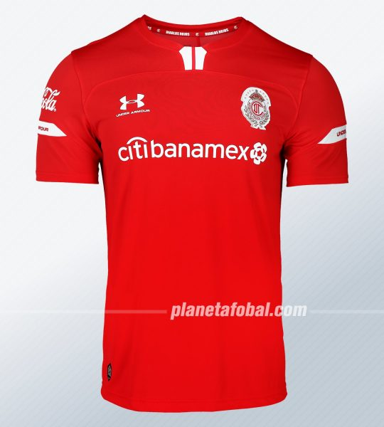 Camiseta local del Toluca Temporada 2019/2020 | Imagen Under Armour