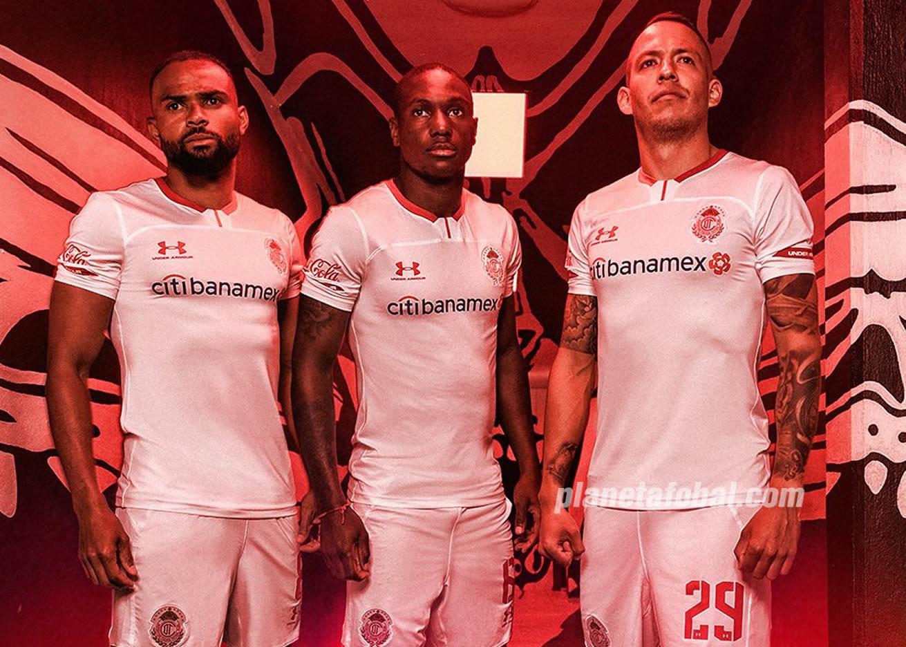 Camiseta visita del Toluca Temporada 2019/2020 | Imagen Twitter Oficial