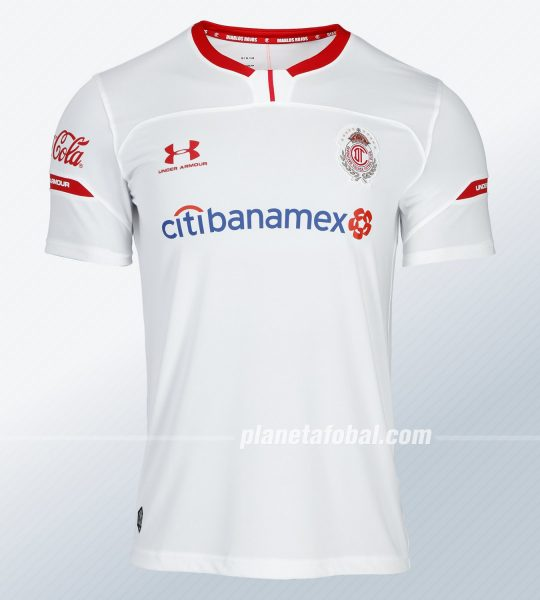 Camiseta visita del Toluca Temporada 2019/2020 | Imagen Under Armour