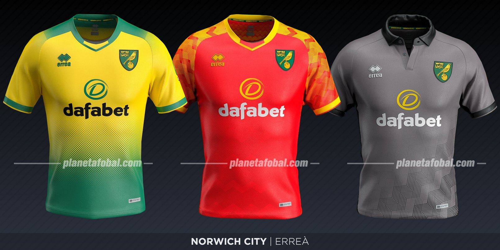 Norwich City (Erreà) | Camisetas de la Premier League 2019-2020