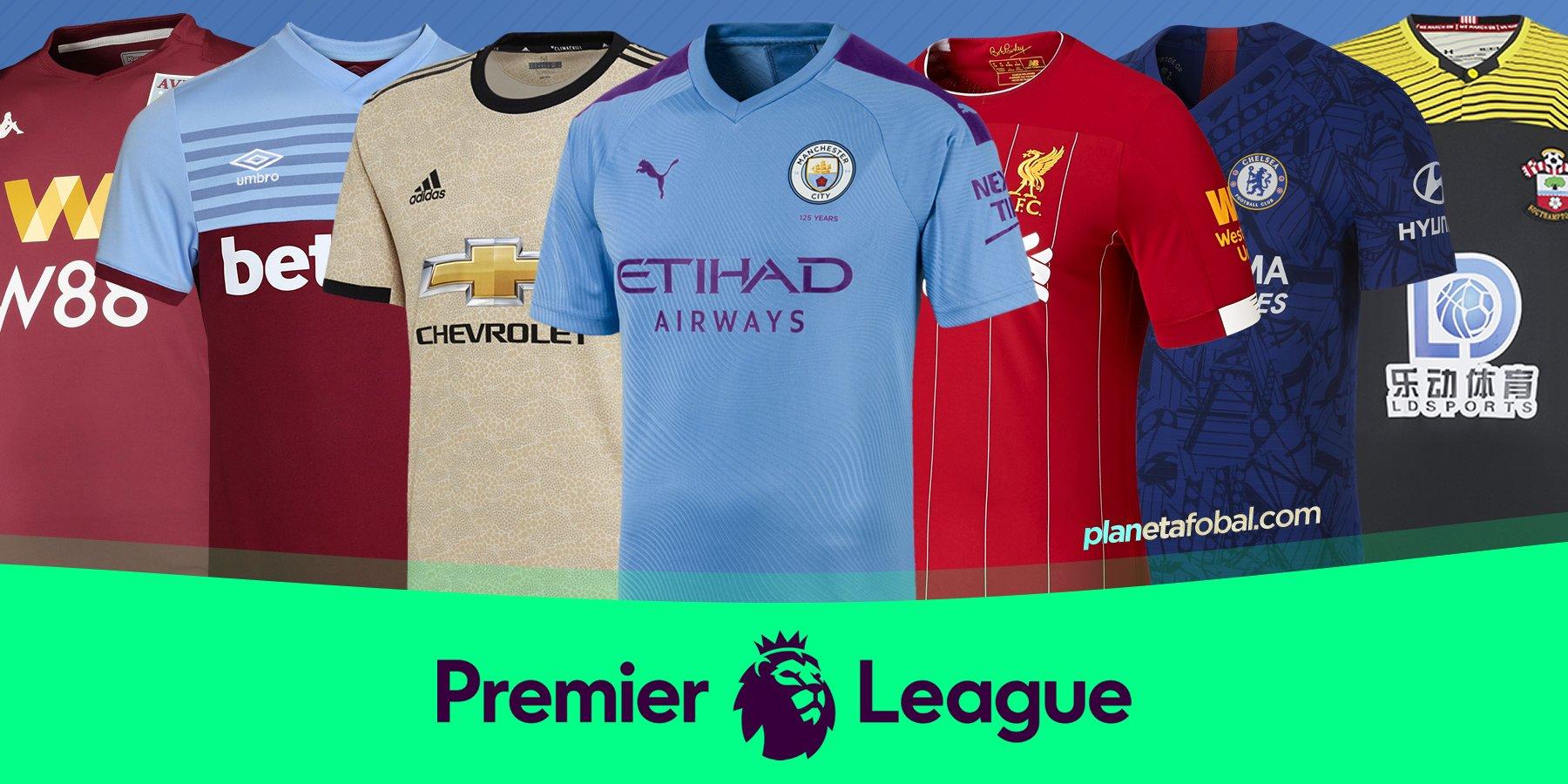 Caducado Superficial repetición  Camisetas de la Premier League 2019/20