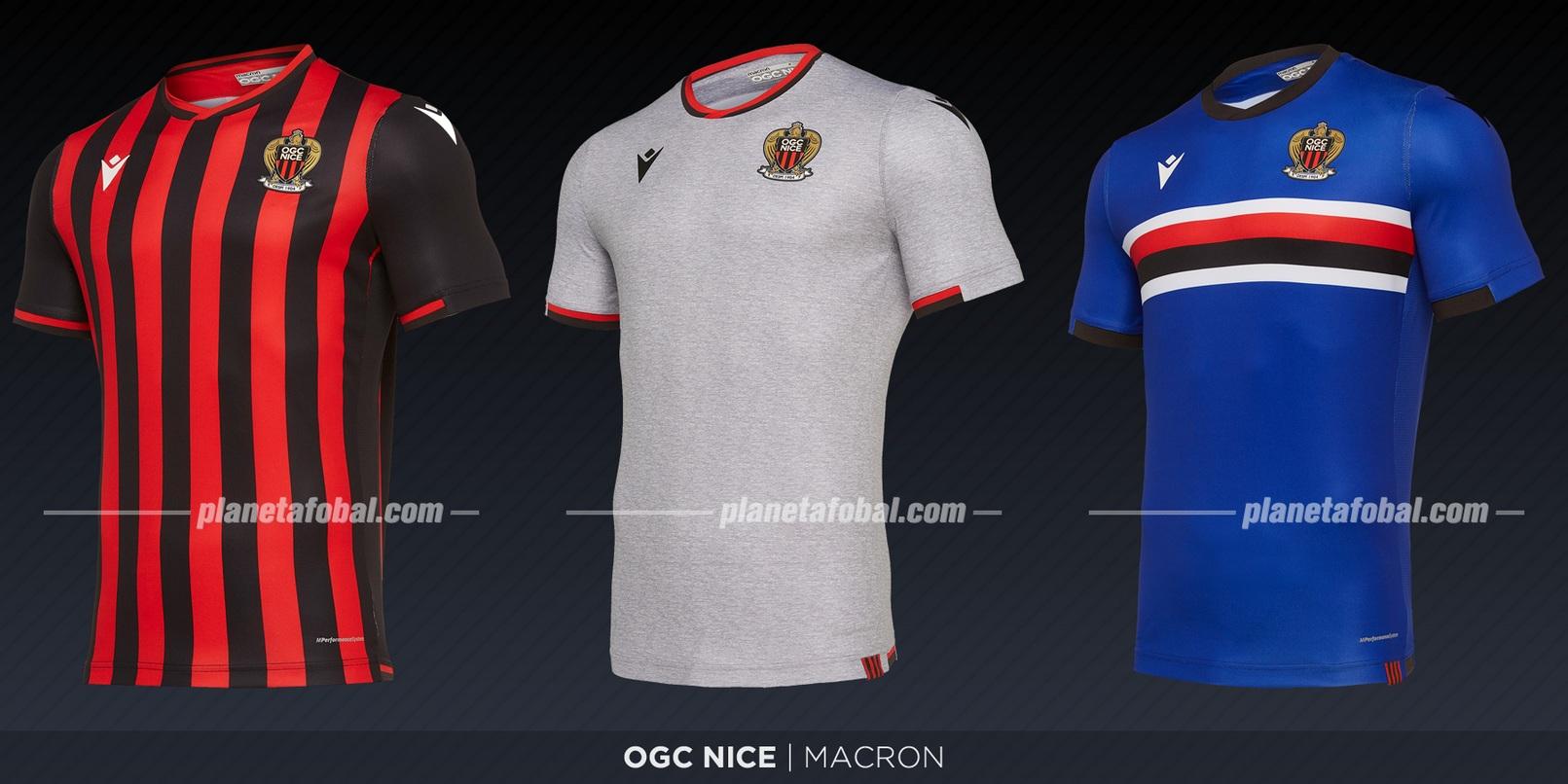 OGC Nice (Macron) | Camisetas de la Ligue 1 2019-2020