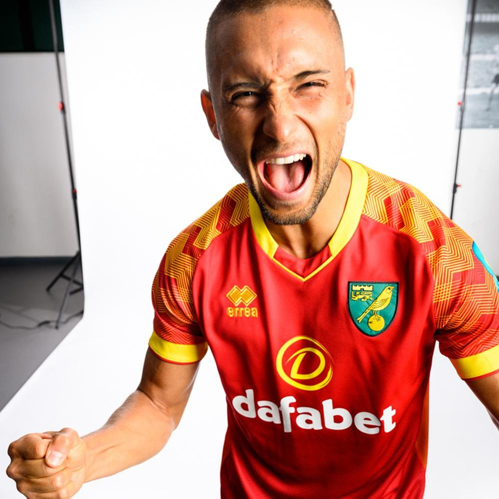 Camiseta suplente Erreà del Norwich City 2019/20 | Imagen Web Oficial