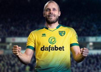 Camiseta titular Erreà del Norwich City 2019/20 | Imagen Web Oficial