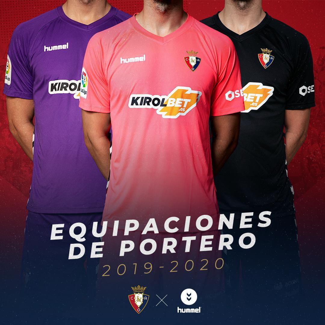 Equipaciones Hummel de porteros del Osasuna 2019/20 | Imagen Twitter Oficial