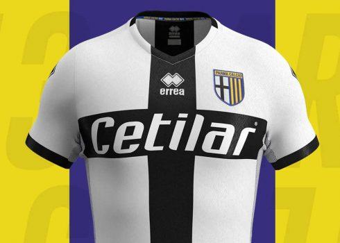 Camiseta titular Erreà del Parma Calcio 1913 2019/20   Imagen Web Oficial