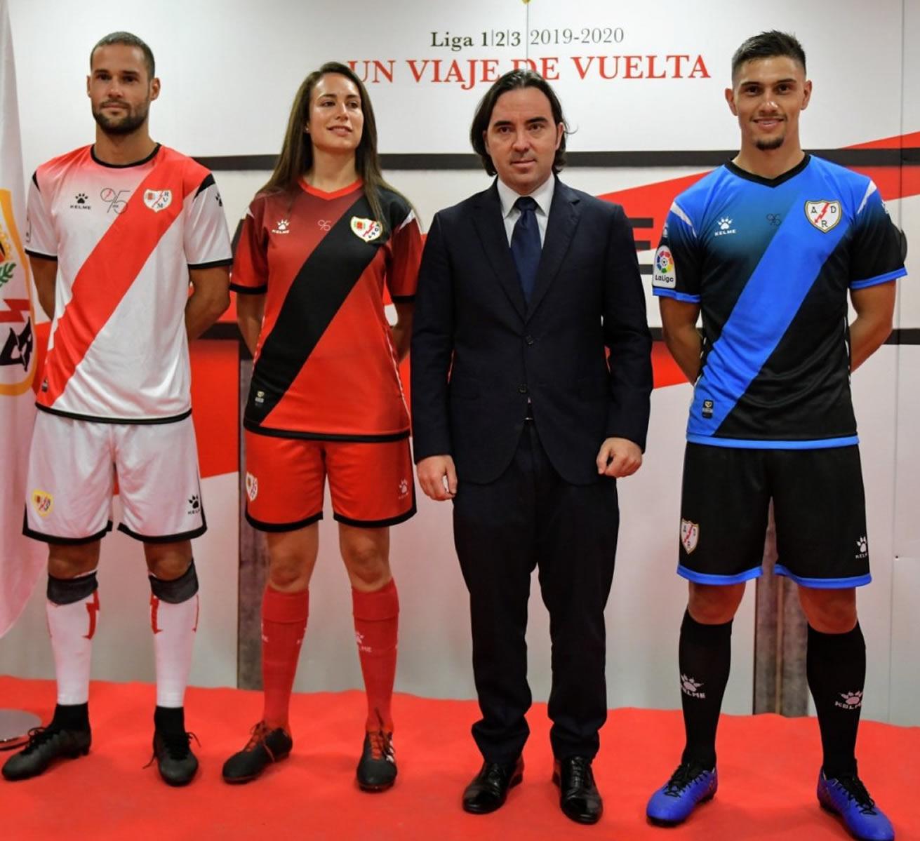 Camisetas Kelme del Rayo Vallecano 2019/20   Imagen Twitter Oficial