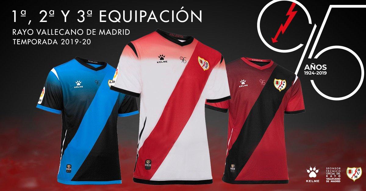 Camisetas Kelme del Rayo Vallecano 2019/20 | Imagen Twitter Oficial