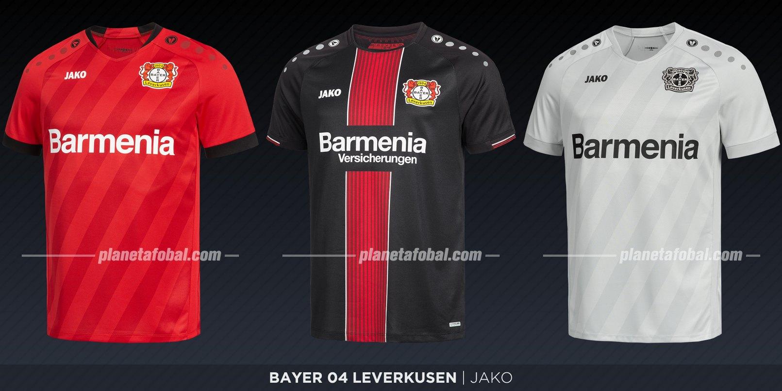 Bayer 04 Leverkusen (Jako) | Camisetas de la Bundesliga 2019-2020