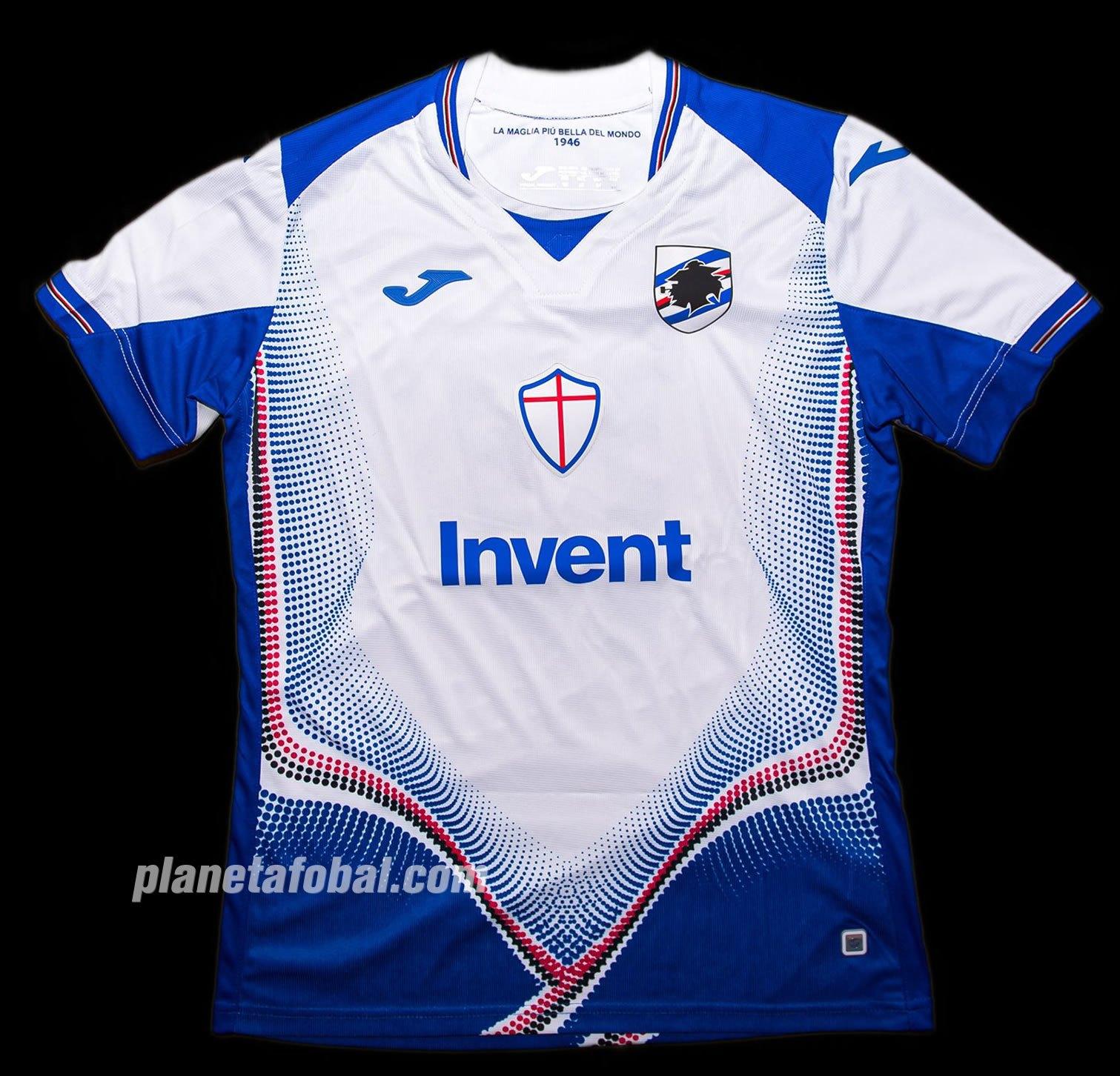Camiseta suplente Joma de la Sampdoria 2019/20 | Imagen Twitter Oficial