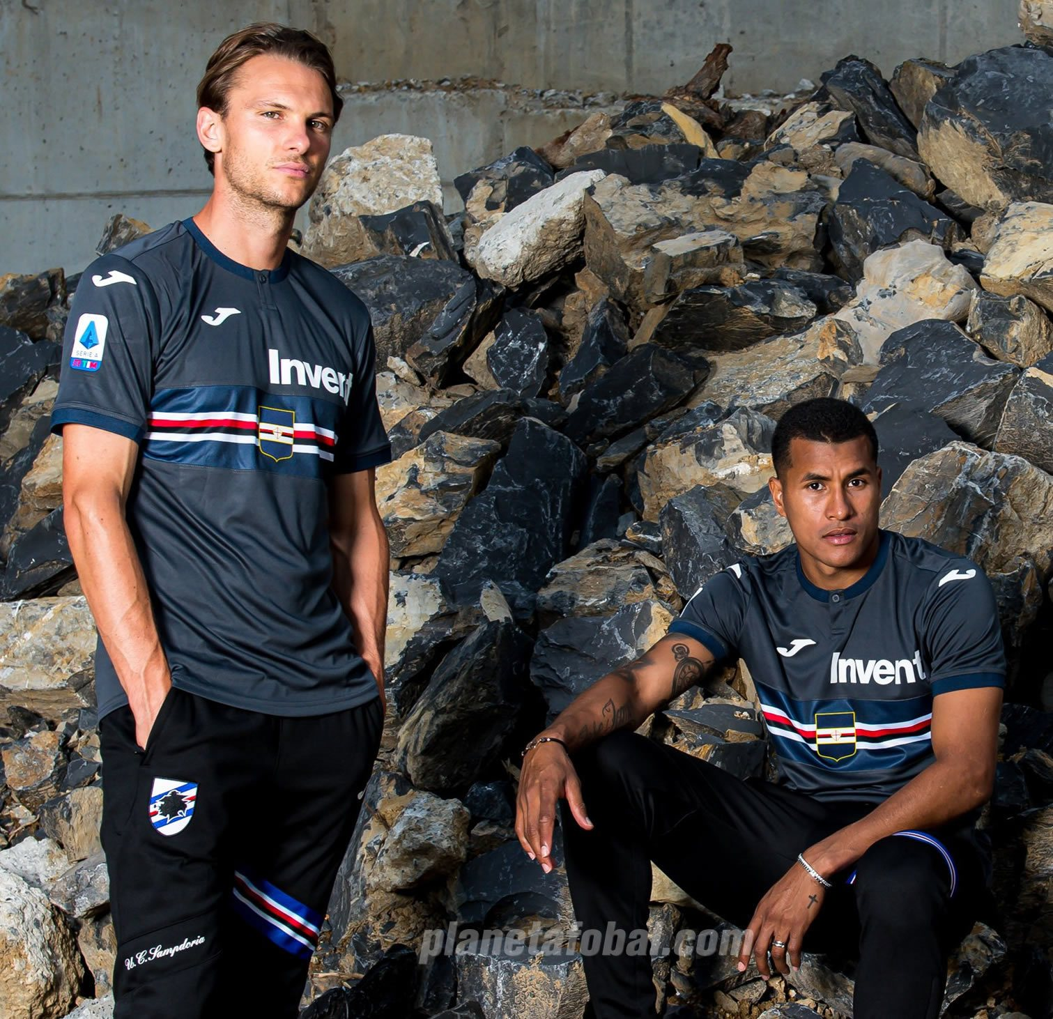 Tercera camiseta Joma de la Sampdoria 2019/20 | Imagen Facebook Oficial