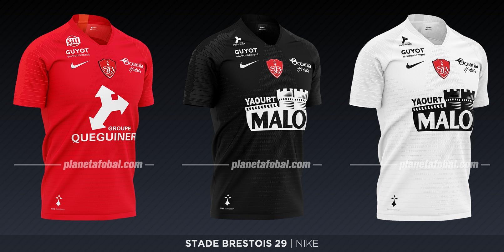 Stade Brestois (Nike) | Camisetas de la Ligue 1 2019-2020