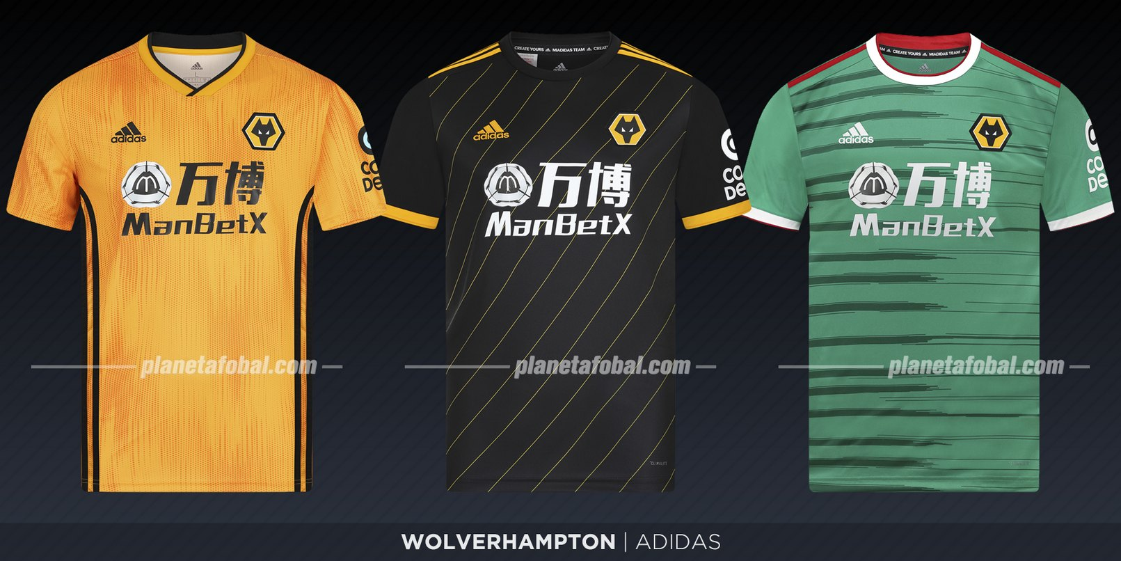 Wolverhamtpon (Adidas) | Camisetas de la Premier League 2019-2020