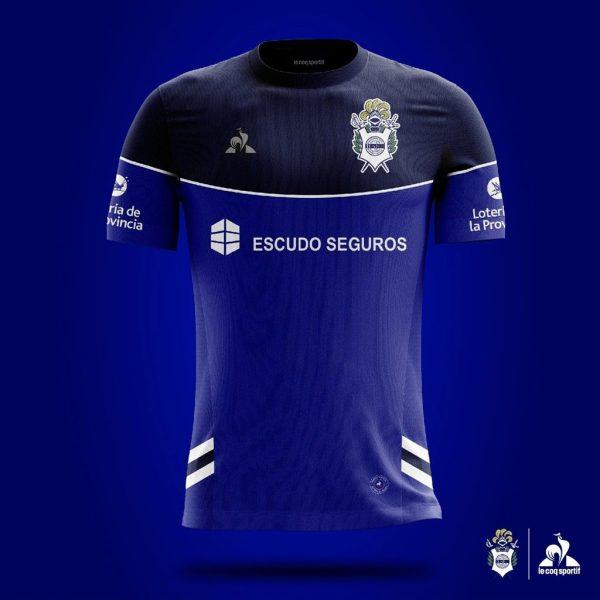 Camiseta alternativa le coq sportif de Gimnasia LP 2019/2020 | Imagen Web Oficial