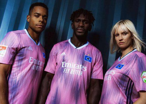 Camiseta suplente Adidas del Hamburgo 2019/20 | Imagen Twitter Oficial