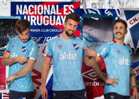 Camiseta celeste de Nacional 2019 | Imagen Umbro