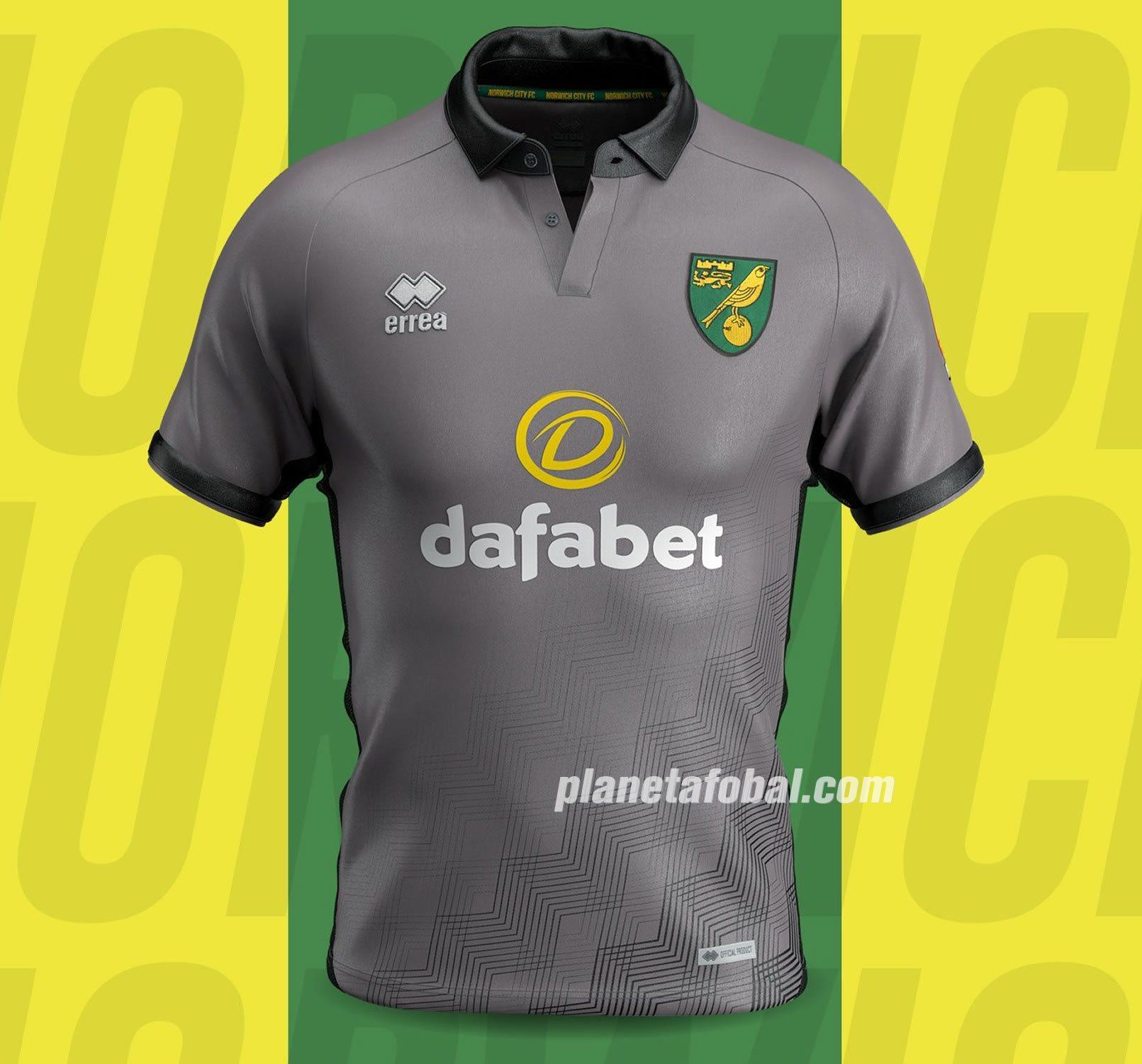 Tercera camiseta Erreà del Norwich City 2019/20 | Imagen Web Oficial