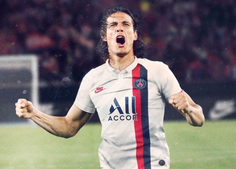 Cavani con la tercera camiseta del PSG 2019/2020   Imagen Nike