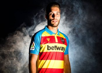 "Camiseta Macron del Levante UD ""Senyera"" 2019/20 | Imagen Web Oficial"