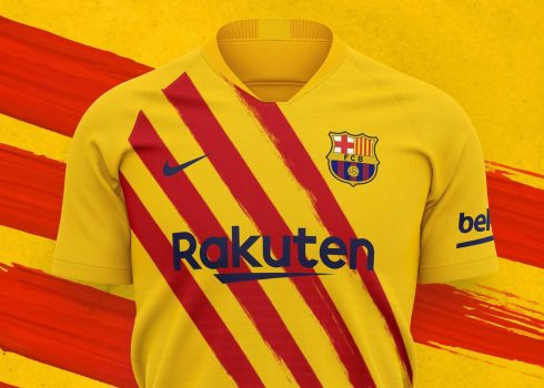 "Camiseta Nike del Barcelona ""Senyera"" 2019/2020 | Imagen Web Oficial"